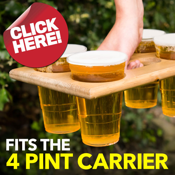 Wooden 4 Pint Carrier from Stephensons Catering Suppliers
