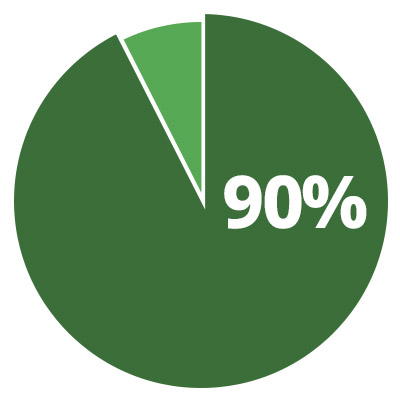 90% of all marine debris is plastic