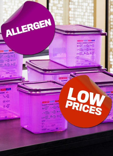 View the full range of Purple Allergen Food Preparation and Catering Equipment from Stephensons Catering Suppliers