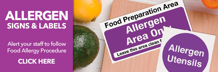 Allergen Signs & Labels from Stephensons Catering Suppliers