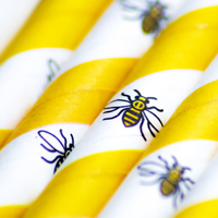 The Manchester Bee Paper Straw is exclusively available from Stephensons Catering Equipment