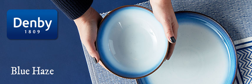 Denby Blue Haze Premium Rustic Coloured Crockery from Stephensons Catering Equipment
