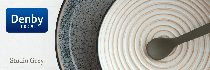 Denby Studio Grey Premium Rustic Coloured Crockery from Stephensons Catering Equipment