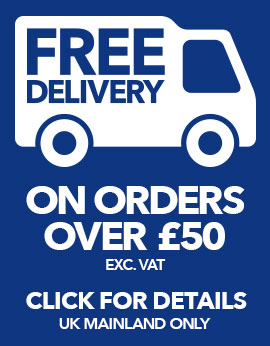 Free Delivery on Orders over £50 (exc. VAT)