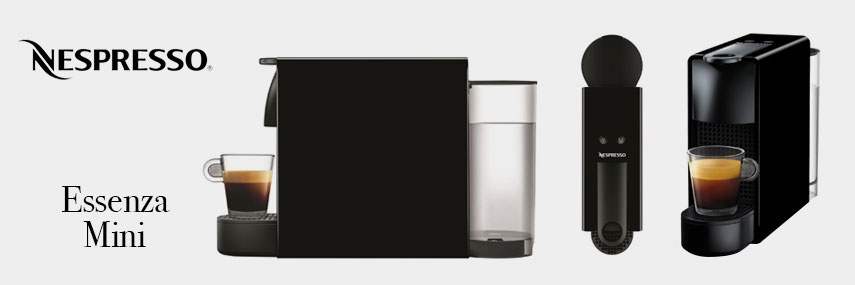 Nespresso by Krups Black Mini Essenza Coffee Machine from Stephensons Catering Suppliers