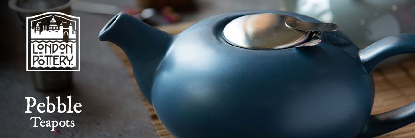 London Pottery Pebble 2 & 4 Cup Coloured Teapots from Stephensons Catering Equipment