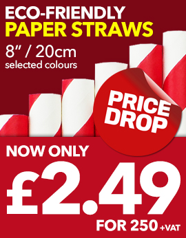 Paper Straw Price Drop at Stephensons Catering Suppliers