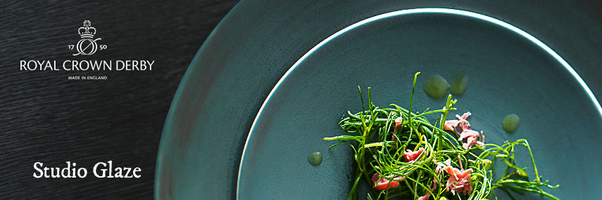 Royal Crown Derby Studio Glaze Premium Fine China Rustic Crockery from Stephensons Catering Equipment