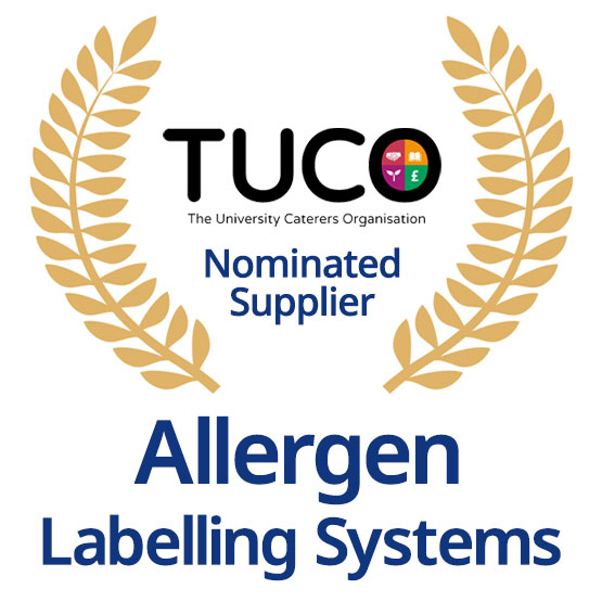 TUCO Nominated Supplier of Allergen Labelling Systems
