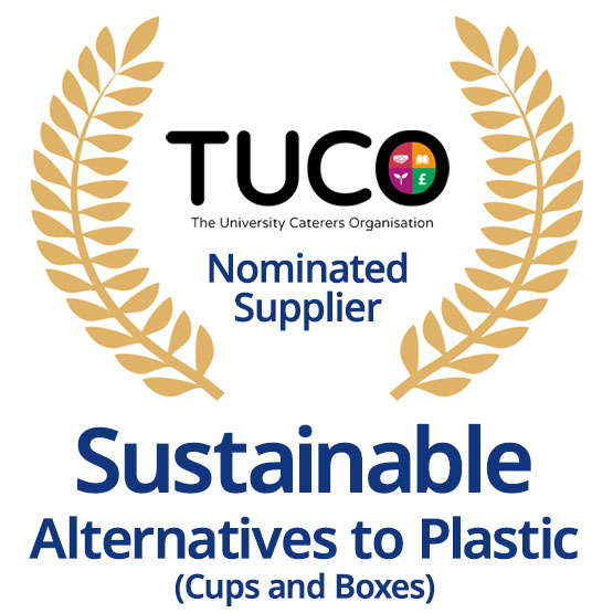 TUCO Nominated Supplier of Sustainable Alternatives to Plastic (Cups and Boxes)