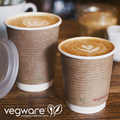 Vegware Double Wall Hot Cups from Stephensons Catering Suppliers