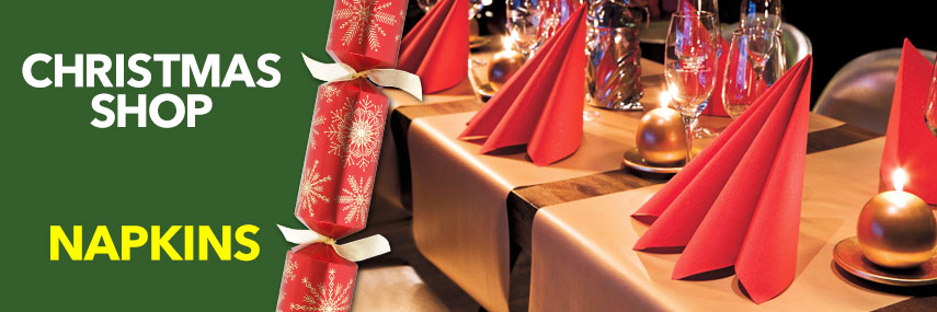 Christmas Napkins from Stephensons Catering Suppliers